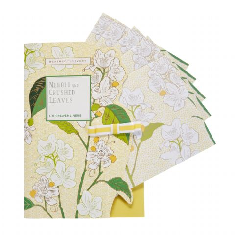 Neroli & Lime Leaves Drawer Liners Heathcote & Ivory (Pack of 5)